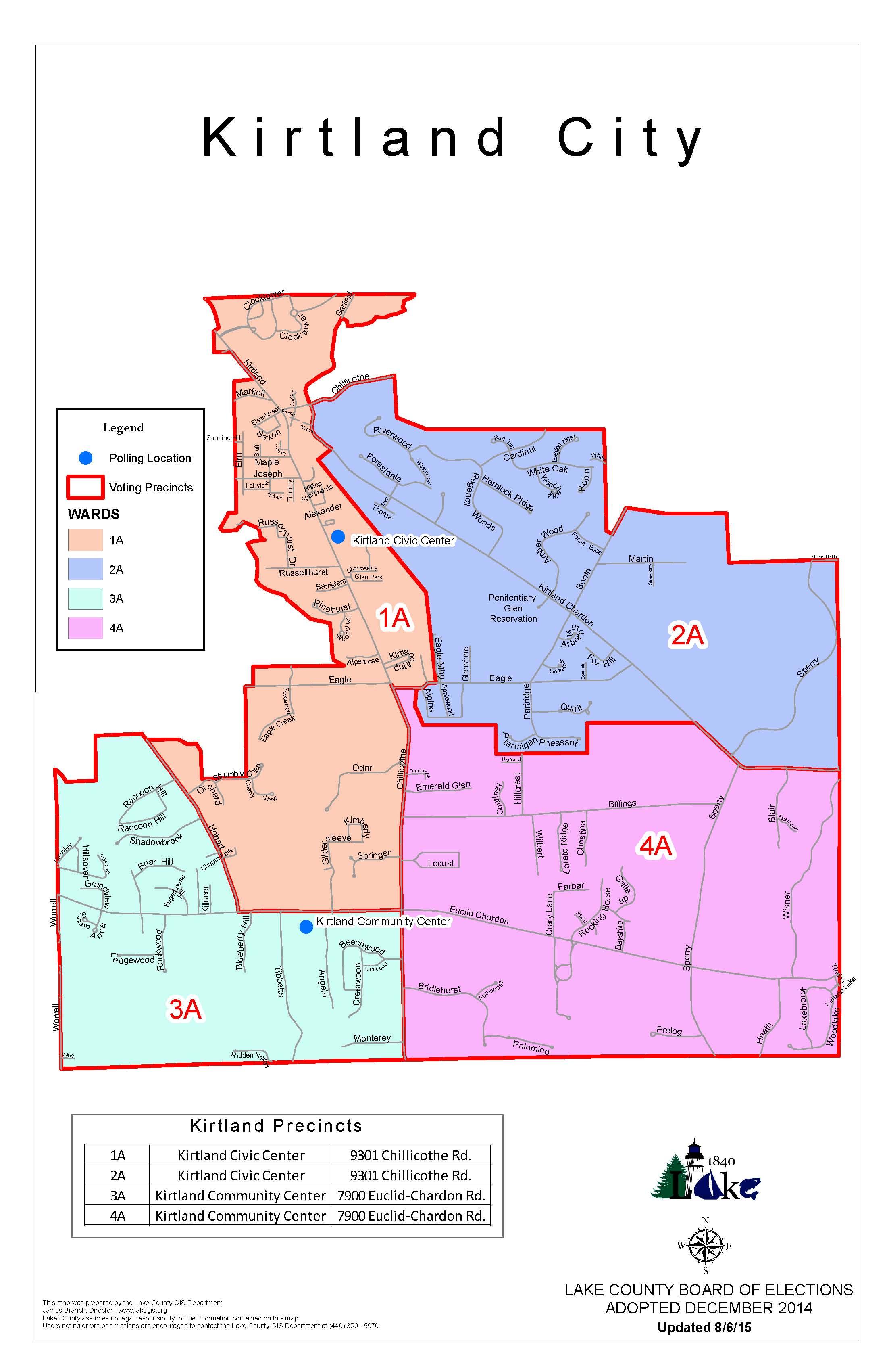 Kirtland Ohio Ward Map