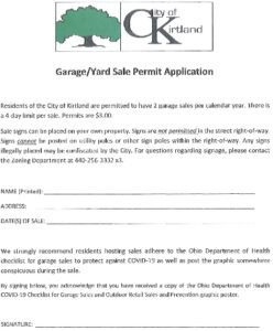 Icon of Garage-Yard Sale Permit Application
