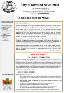 2020 Kirtland Fall-Winter Newsletter