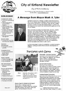 Icon of 2011 Winter Newsletter