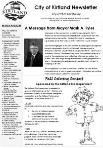 Icon of 2011 Fall Newsletter