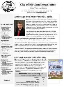 Icon of 2012 Fall Newsletter