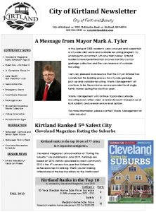 Icon of 2013 Fall Newsletter
