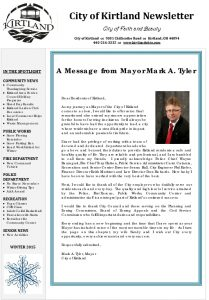 Icon of 2015 Winter Newsletter