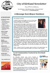 Icon of 2016 Fall & Winter Newsletter