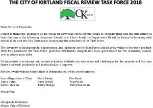 Icon of Kirtland Fiscal Review Task Force Report