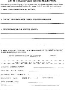 Icon of Kirtland Public Records Request